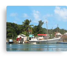 Docked Boats at Antigua Metal Print