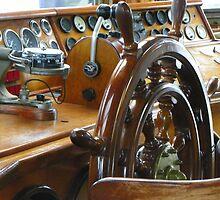 Tall Ship Peacemaker - Wheelhouse by MaryinMaine