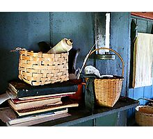 Books and Baskets Photographic Print