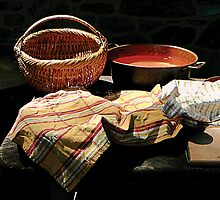 Basket and Pot of Soup by Susan Savad