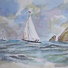 sailing boats by Ivor