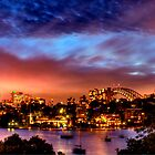 Sydney Harbour - Before New Year's Eve Fireworks by Bryan Freeman