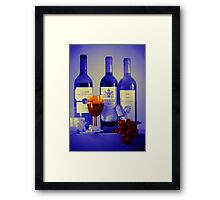 Cheese and Wine: A Colourful Evening Framed Print