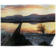 Sunset over Trawsfynydd North Wales Poster