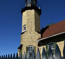 White River Lighthouse Tower and Fence by foozma73