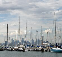 20080410 Melbourne skyline from Williamstown by Fred Mitchell