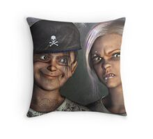Kiddies Your Cousins Are Here Throw Pillow