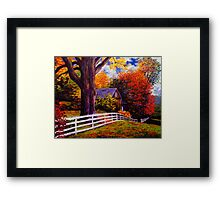 Fence in New England Framed Print