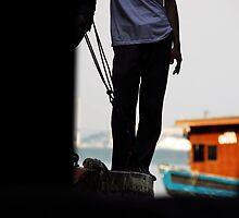 Vietnam Sapa Man on Boat by noelmiller