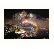 Let There Be Light #1- Sydney New Years Eve ,Australia Art Print
