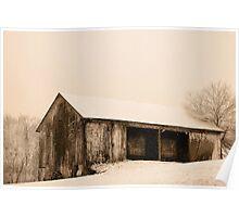 Albert's Barn in Snowstorm Poster