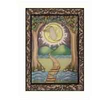 The Moon Tarot Fantasy Card Art Print