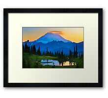 Mount Rainier Goodnight Framed Print