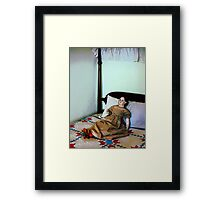 Doll on Four Poster Bed Framed Print
