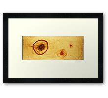 Bios Logos 2 - orignal acrylic abstact painting on canvas Framed Print