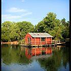 Boathouse Reflection by Rdestruction