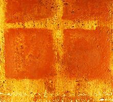 Cross Chant - original mixed-media painting on wood panel by Marco Sivieri