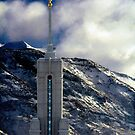 Mount Timpanogos Temple - Snowy Day by Ryan Houston