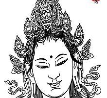Buddha face Print by buddhabubba