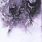 Predator practise by Alleycatsgarden
