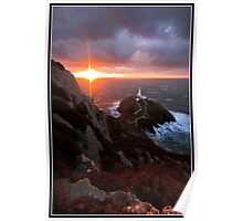 South stack on a cold winters night Poster