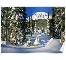Mount Rainier Winter  Poster