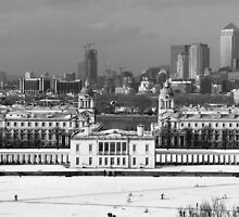 Snow Bound Greenwich Mean Time B/W by Terry Senior
