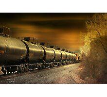 """ Mirrored Tanker "" Photographic Print"