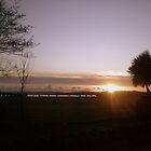 Sunset over Lytchett Bay (Hamworthy Park) Dorset by Songwriter