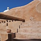 The Tumacacori Spanish Mission Clay Pot by Robert deJonge