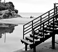 Black and white stair by fonsecanuno