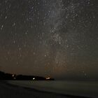 The Milky Way over Union Bay, Porcupine Mountains by Robert deJonge