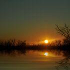 Sunset on Lake Eufala by becky-lou