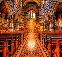 St Pauls Cathedral - Melbourne by Hans Kawitzki