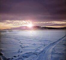 Frozen Utah Lake by Ryan Houston