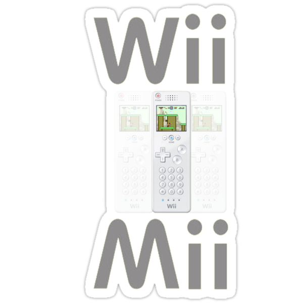 Wii Mii Cellphone T-shirt by Tee Vic