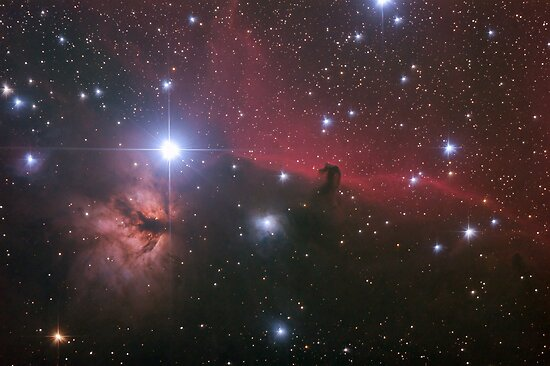 "Nebular comples in Orion's Belt. ""Horse head"" and ""Flaming tree"" nebulas. by Igor Chekalin"
