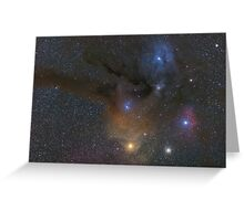 Antares and Rho Ophiuchi region nebulae Greeting Card