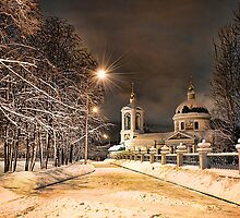 Winter Church by Gouzelka