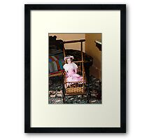 Doll in Carriage Framed Print