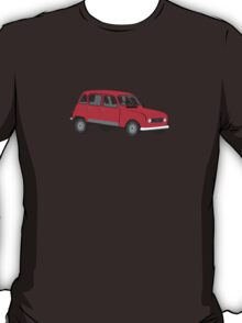 Renault 4 GTL Red T-Shirt