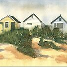 Beach Huts, Hengistbury Head by FrancesArt