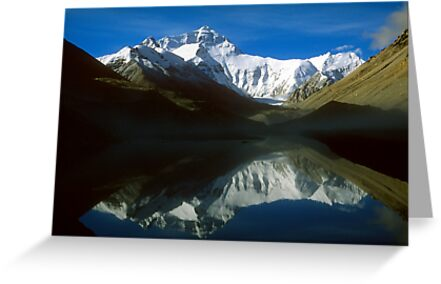 Mount Everest from the Tibetan side by Kerry Dunstone