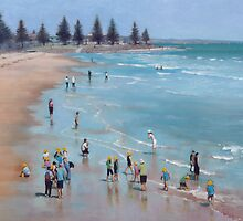 School children on the beach by Mick Kupresanin