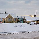 Dalmeny Village in the Snow by Tom Gomez