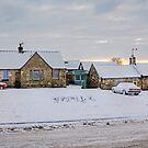 Dalmeny Village in the Snow by Tom Gomez