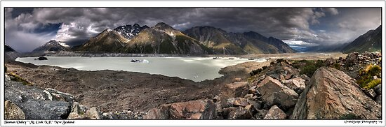 Tasman Valley Panorama by Robert Mullner