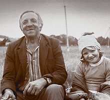 A Man and His Daughter, Ukraine II by Yuri Lev