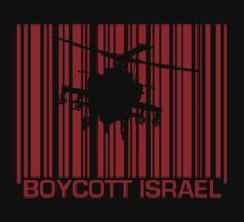 Boycott Israel_punch_out_red (heli version) by vrangnarr