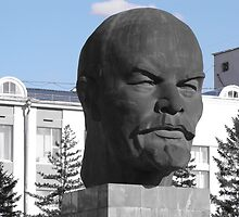 Lenin's head statue in Ulan Ude by Romina .